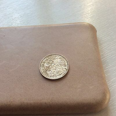 British coin sixpence 1960
