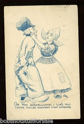 Oh You Sugar Lump Like You Cause you Schveet Marriage 1912 Antique Postcard 756