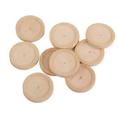 10x Vintage Round Wooden Cameo Base Setting/Tray Antique for Art Craft DIY