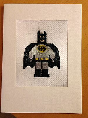 Completed Crossstitch Cards - Batman