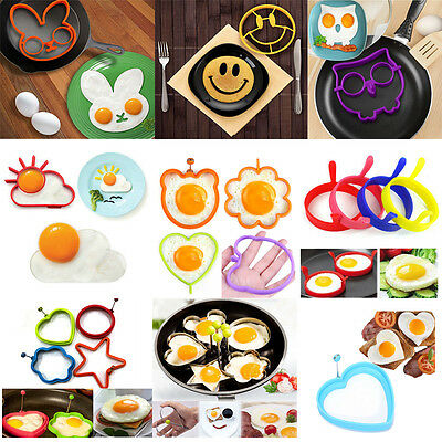 28 Style Breakfast Fried Egg Mold Silicone Pancake Ring Shape Funny Cooking Tool
