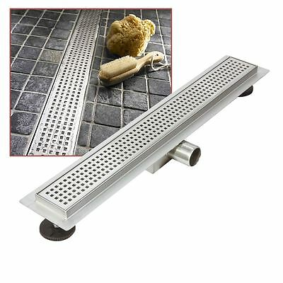 """500mm Stainless Steel Long """"Rectangular"""" Wetroom / Shower Drainage System"""