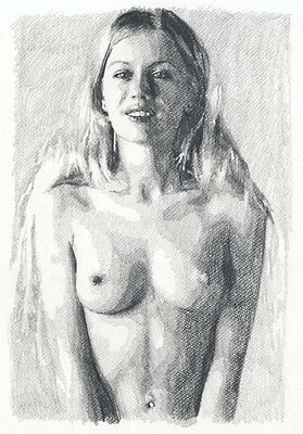 J. Misioteu - 2012 Graphite Drawing, Nude Study