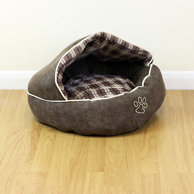 Small Cosy Fleece Pet Cave Dog/Puppy/Cat/Kitten Warm/Soft Igloo Bed House/Nest