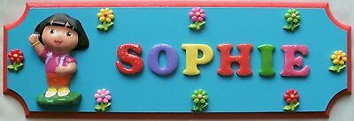 Dora The Explorer Personalised Children's Name Plaque Sign *Max 7 Letter Name*