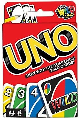 Mattel UNO card Game WILD CARDS Latest version Great Family Fun  100% UK SELLER