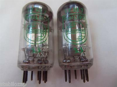 2x RARE ECC83 12AX7 7025 VALVE LAMPE TUBE PHILIPS SILVER ANODE PLATE TESTED =°=