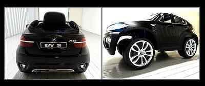 Electric Childs Ride On Car BMW White / Black X6  Kids + Remote Plays MP3 Music