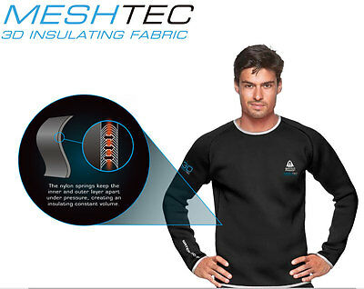 Mens Waterproof MESHTEC Insulating 3D Mesh Undergarment TOP for Dry Suits