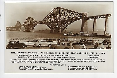 The Forth Bridge No.FW84a - Old Cars and details of Bridge