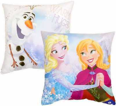 Official Disney Frozen Character Filled Cushion Pillow reversable
