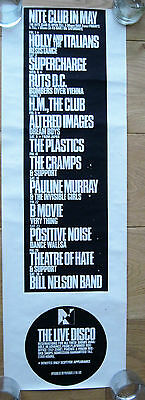 Nite Club Gig Poster May 1981 Punk Rock