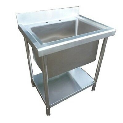 Stainless Steel Catering Sink Commercial Single Bowl 700mm Left hand Drainer