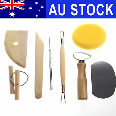8Pcs Pottery Tool Set Clay Ceramics Molding Needle Cutter Loop Ribbon Tools Kit
