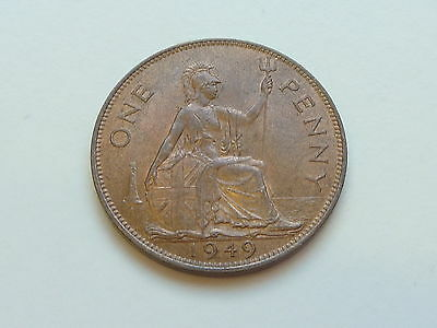 1949 UNCIRCULATED 1d PENNY LUSTRE