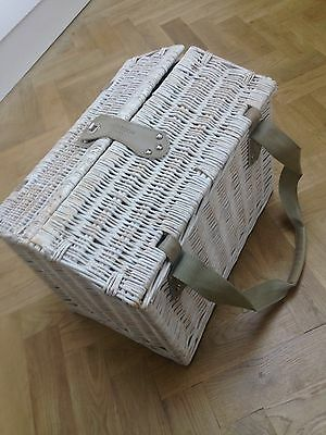 Monsoon New Hummingbird 4 Person Picnic Hamper Basket & Cutlery Plates Etc £60