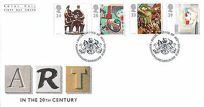ROYAL MAIL FIRST DAY COVER-ART IN THE 20th CENTURY-ROYAL COLLEGE OF ART SHS-1993