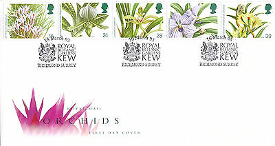 Royal Mail First Day Cover-Orchids-Kew Gardens, Richmond Shs-1993