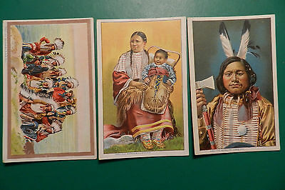 Trois Cartes postales  Indien  ( BUFFALO BILL'S WILD WEST)