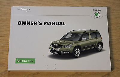 Genuine Skoda Yeti Handbook Owners Manual 2013-2016 Main Book
