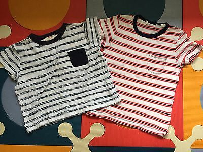 BULK SEED & COUNTRY ROAD BOYS STRIPES COTTON TOPS Size 2-3
