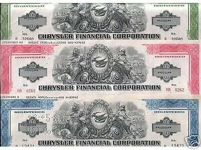 LOT OF 5 DIFF SUPERB & RARE CHRYSLER $ BONDS w OLD CARS! 90% OFF! OUR EXCLUSIVE!