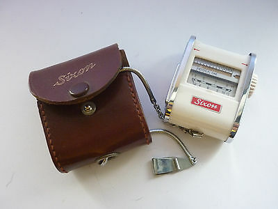 CBS#26.Vintage Photography Sixon W.German Exposure/Light Meter & Leather Case