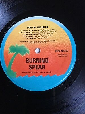 Burning Spear Man In The Hills Lp