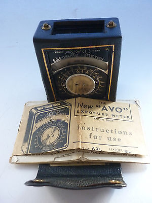 CBS#27.Vintage Photography Avo 1930s. Exposure/Light Meter & Leather Case