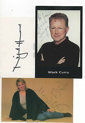 """MIXED LOT OF AUTOGRAPHS baker/havers/curry 6"""" x 4"""" photos and card"""