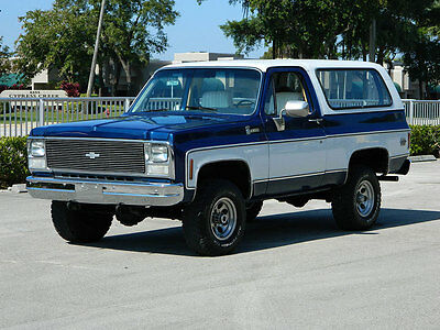 1980 Chevrolet Blazer K5 1980 CHEVROLET BLAZER K5 4X4 BLAZER UNBELIEVABLE UNDERCARRIAGE SOLID RUST FREE
