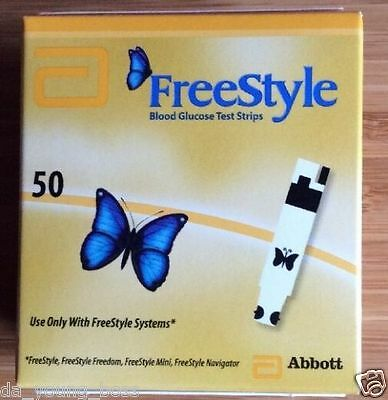 Freestyle Blood Glucose Diabetic Testing Test Strips **BRAND NEW & SEALED**