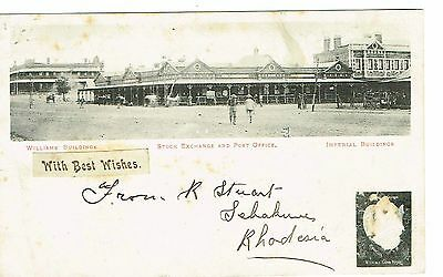 Rhodesia Williams Buildings Stock Exchange Etc Early 1900's Undivided Back