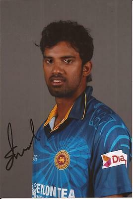 SRI LANKA * SACHITHRA SENANAYAKE SIGNED 6x4 PORTRAIT PHOTO+COA