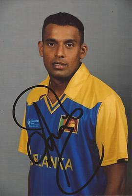 SRI LANKA * THILAN SAMARAWEERA SIGNED 6x4 PORTRAIT PHOTO+COA