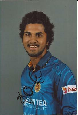 SRI LANKA * DINESH CHANDIMAL SIGNED 6x4 PORTRAIT PHOTO+COA
