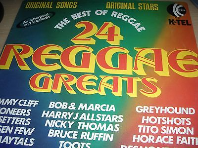 24 Reggae Greats The Best Of Reggae Various Artists Vinyl LP 1974 K-tel NE 501