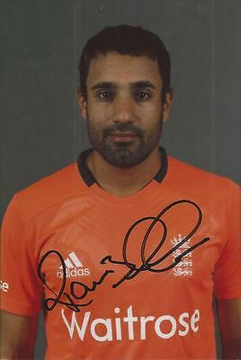 ENGLAND * RAVI BOPARA SIGNED 6x4 PORTRAIT PHOTO+COA