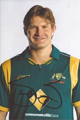 AUSTRALIA * SHANE WATSON SIGNED 6x4 PORTRAIT PHOTO+COA