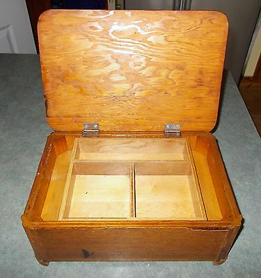 Vintage Wooden Sewing / Arts & Crafts Box