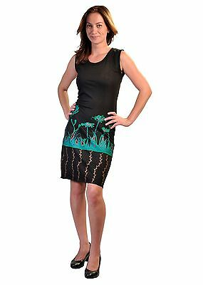 Tattopani Women's Summer Sleeveless Dress With Colorful Flower Embroidery