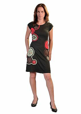 Women's Summer Sleeveless Dress With Chakra Embroidery & Paint