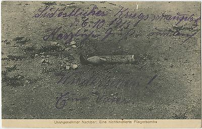 German WW1 Postcard, Unexploded Bomb Dropped From Aeroplane, 1915 (40)