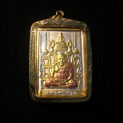 Buddha Thai Amulet Master Legend Lp Thuad Pendant Sacred Protect Lucky Rich N21
