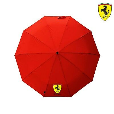 Premium Quality FERRARI Umbrella Folding Automatic Genuine Designer Red Brolly