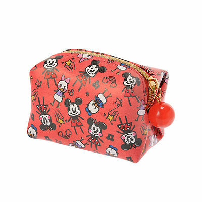 Japan Disney Store Mickey Mouse & Friend Graffiti Style Small Pouch Cosmetic Bag
