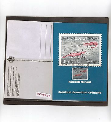 "Stamps: Greenland 1982 ""fish"" Maxi Card (Unused)"