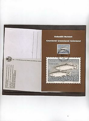 "Stamps: Greenland 1983 ""fish"" Maxi Card (Unused)"