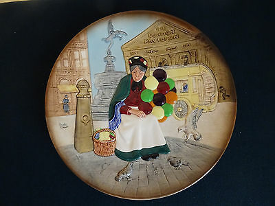"Vintage 1979 Royal Doulton D6649 The Old Balloon Seller 10"" Diameter Collectors"