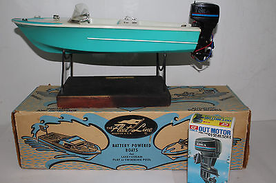 "1960's Fleetline ""The Wizard"" Battery Operated Boat with Original Box"